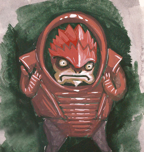 Here is another bit of mass effect fan art.  This time a weird little Wrex Doodle.