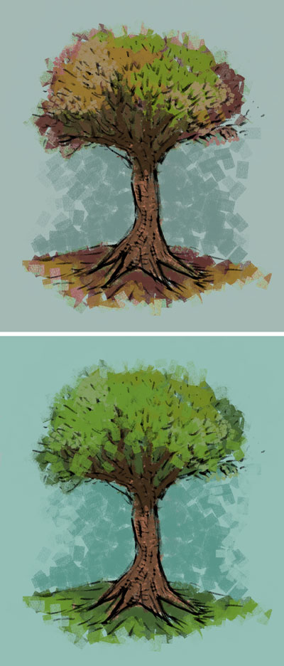 Some trees I made for something that did not work out.  But trees are nice, I like trees.