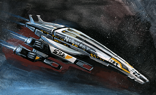 Here is my last Mass Effect thing for the time being. And whats more suiting that the Normandy?