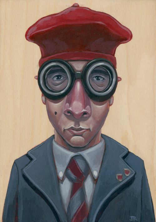 time for the Second Annual Bad Dads art show at Spoke Art in San Francisco. A tribute show to the director Wes Anderson