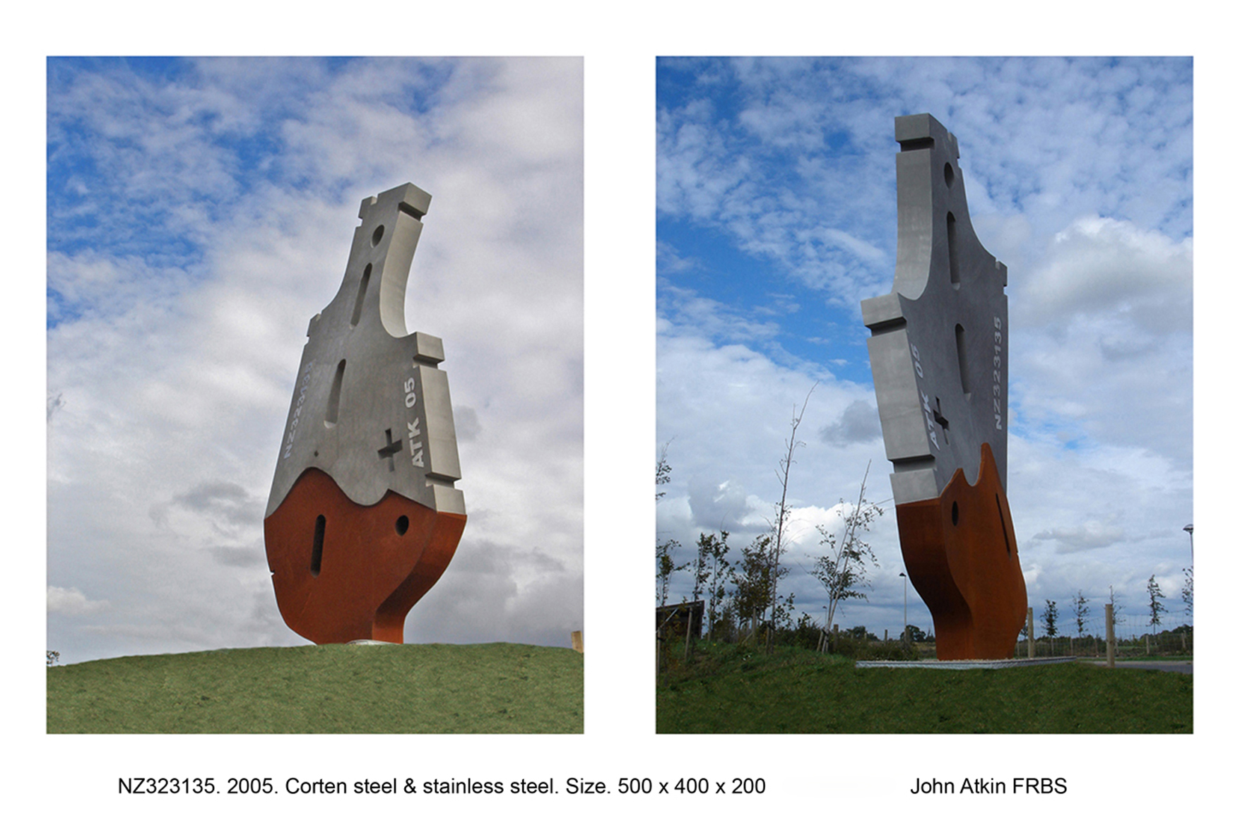 4. NZ323135. 2005. Corten & stainless steel. Hight 5 meters..jpg