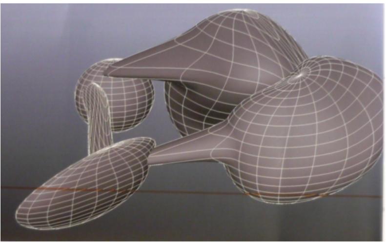 Preliminary shape created using MAYA
