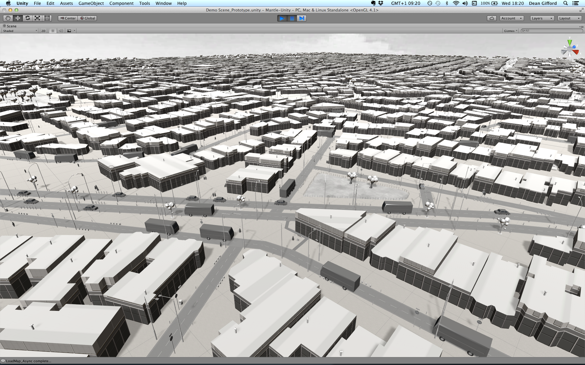 Work-in-progress: Buildings, land use areas and transport routes generated from Mapbox Streets vector tiles