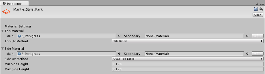Fig. 2 Materials interface UI detail