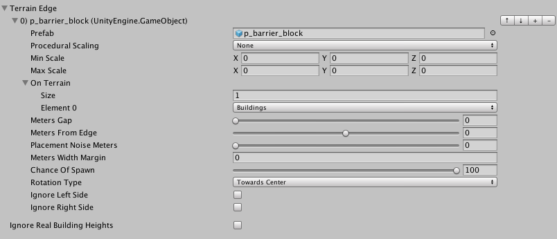Fig. 2 Terrain Edge option UI