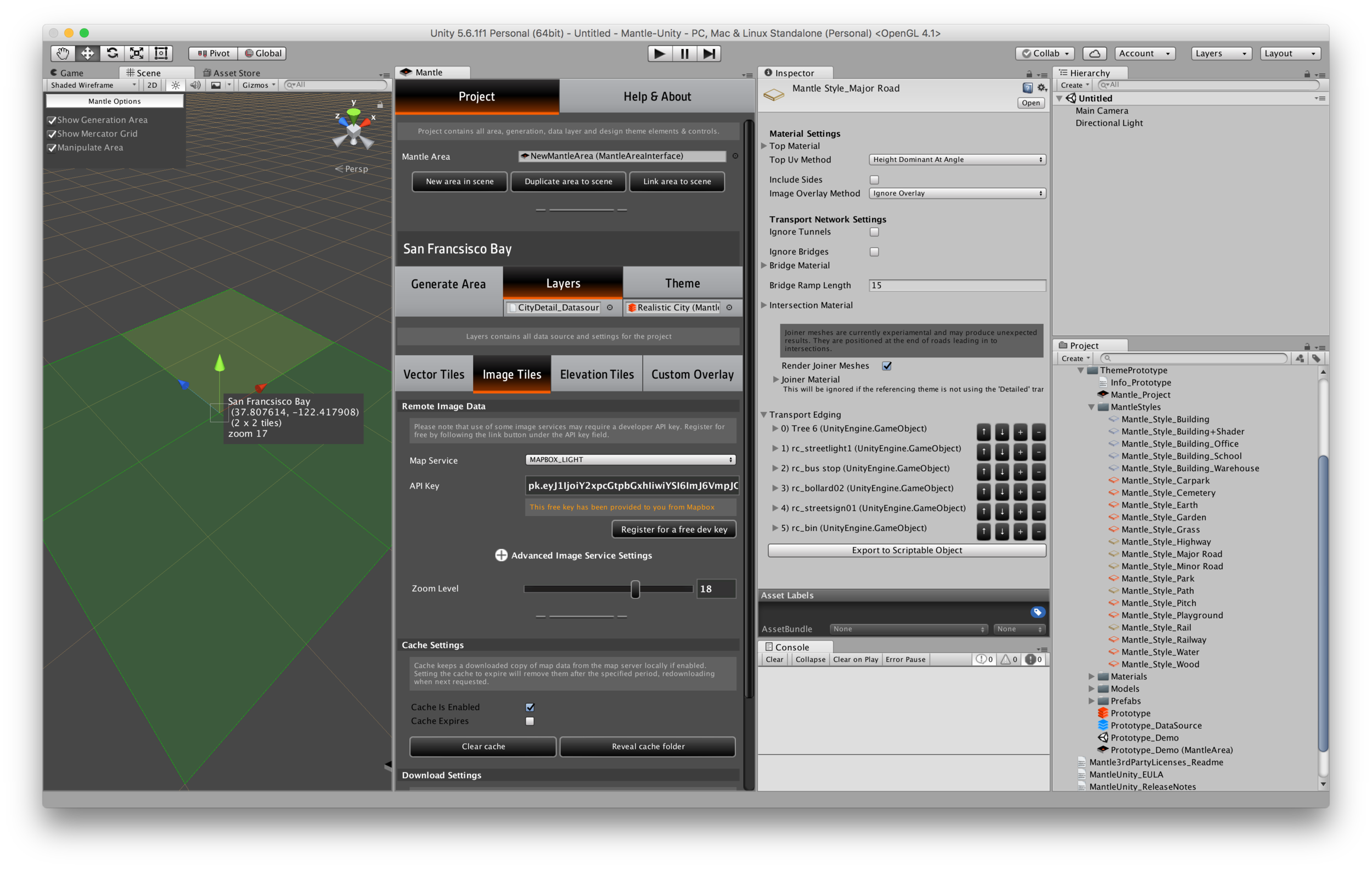 Mantle 1.3 GUI Update: Scene grid and dedicated Tab based Mantle window