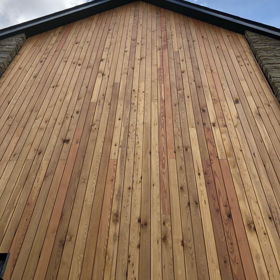 Sheer on Larch Cladding