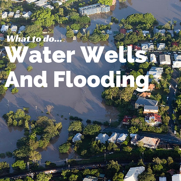 Steps to take after a water well is flooded.