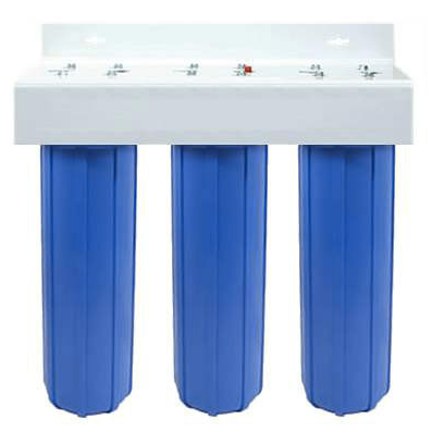 A whole house water filtration system solves water quality problems.