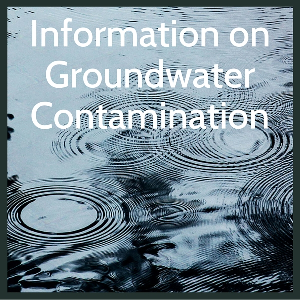 Learn more about groundwater contamination