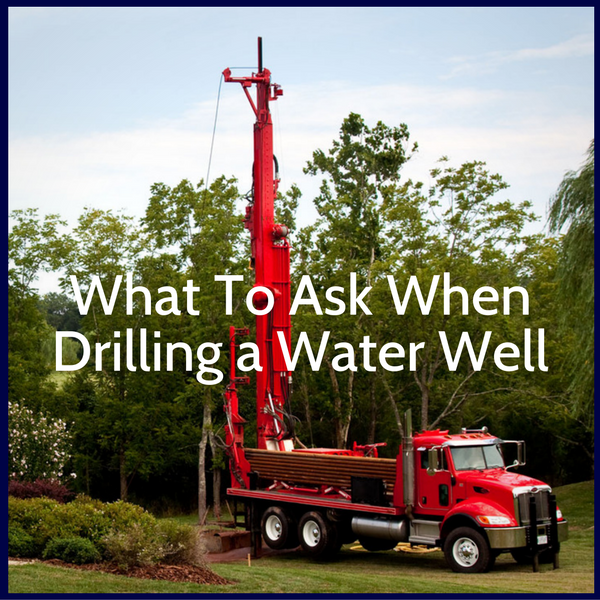Get answers to questions about water well drilling