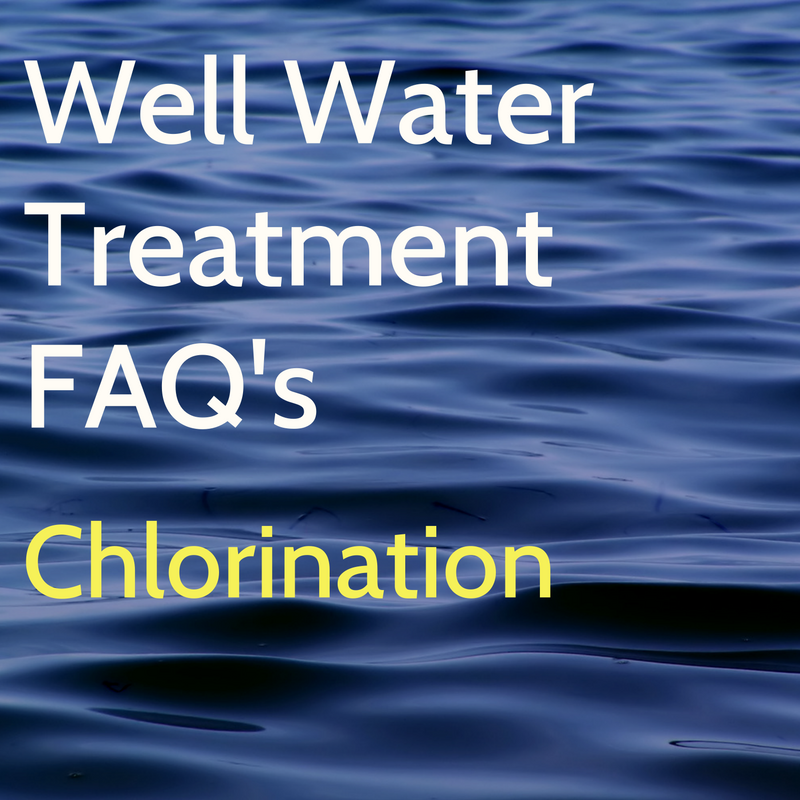 Treating well water bacteria with chlorination