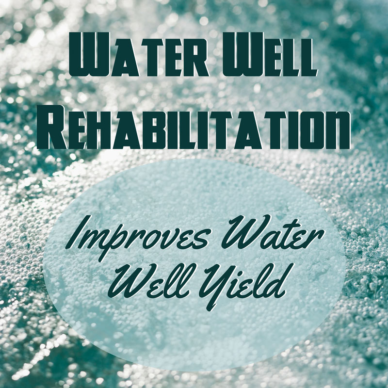 Water Well Rehabilitation improves Water Yield