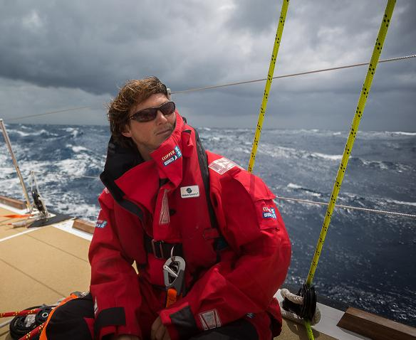Eric Holden sailing in the Souther Ocean
