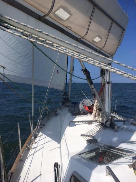 Under sail at last