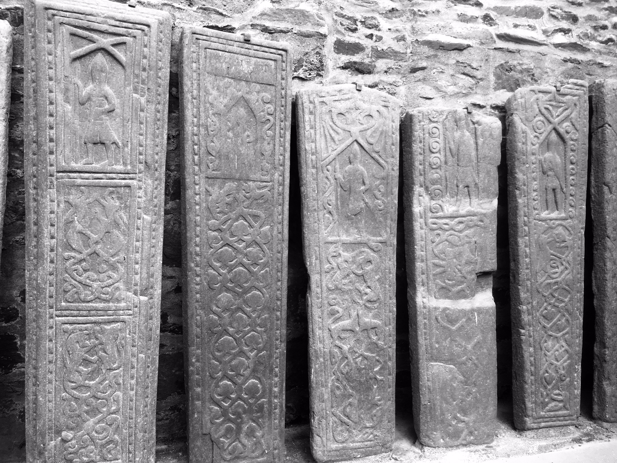 Grave slab carvings from 900s to 1600s - can you spot the unicorn?