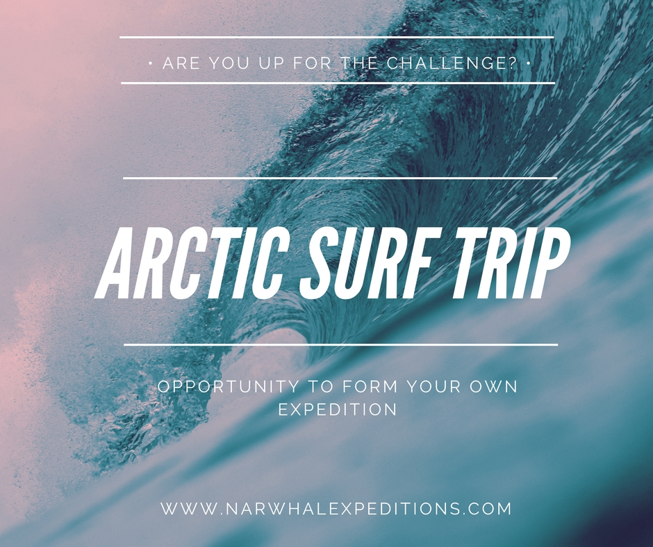 Surf in the arctic with expedition yacht Narwhal