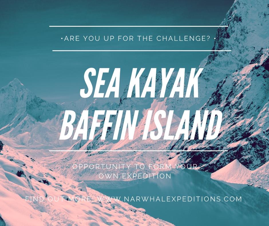 Sea kayak Baffin Island