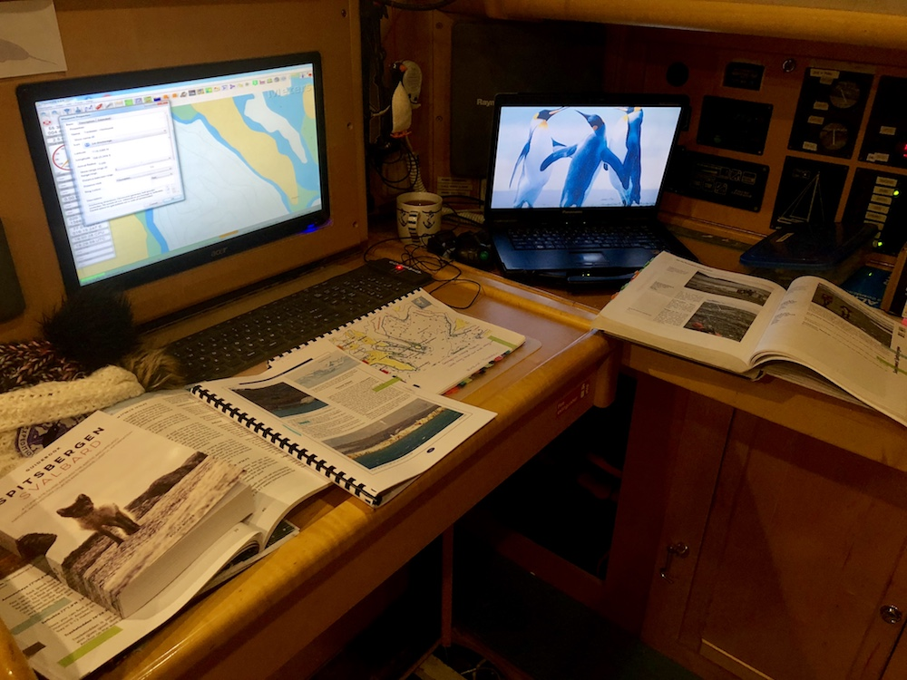 Lots of planning work went into our expedition itineraries