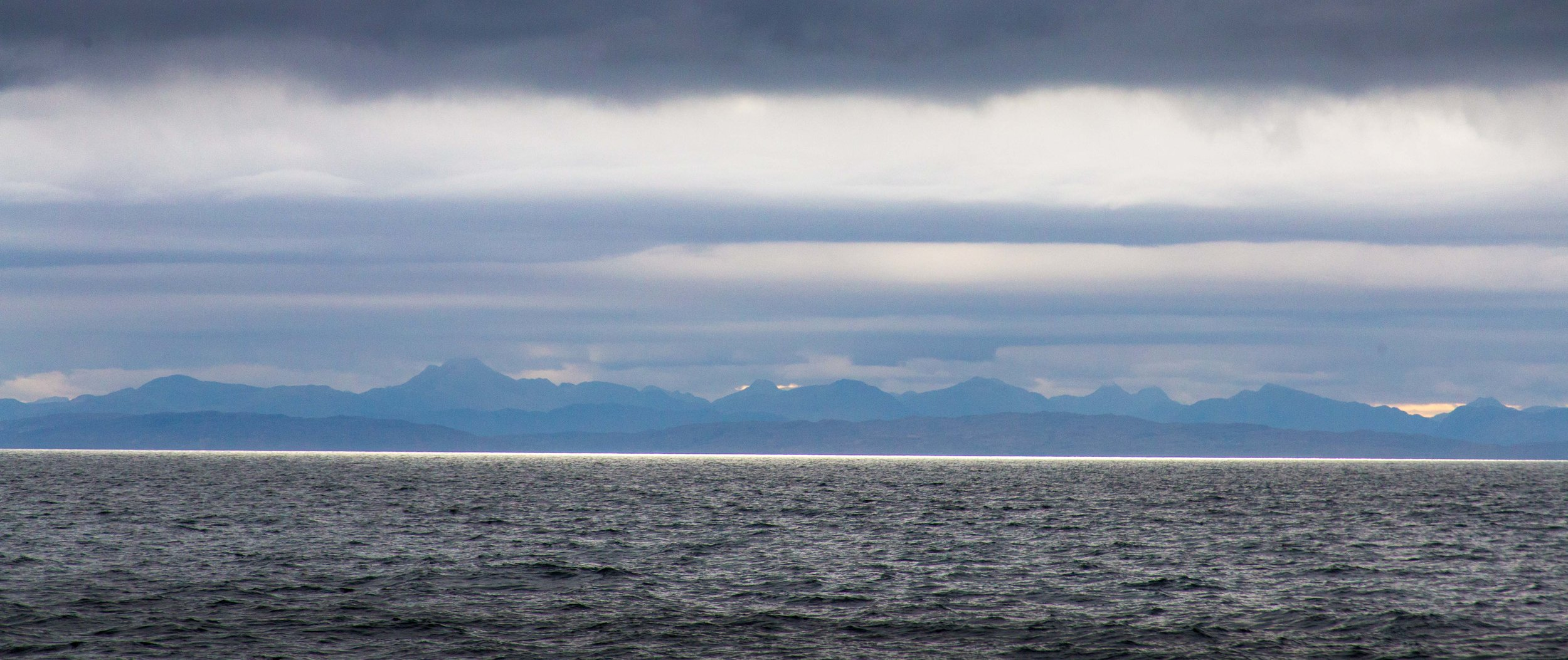 The view of the Cullin range from the outer anchorage
