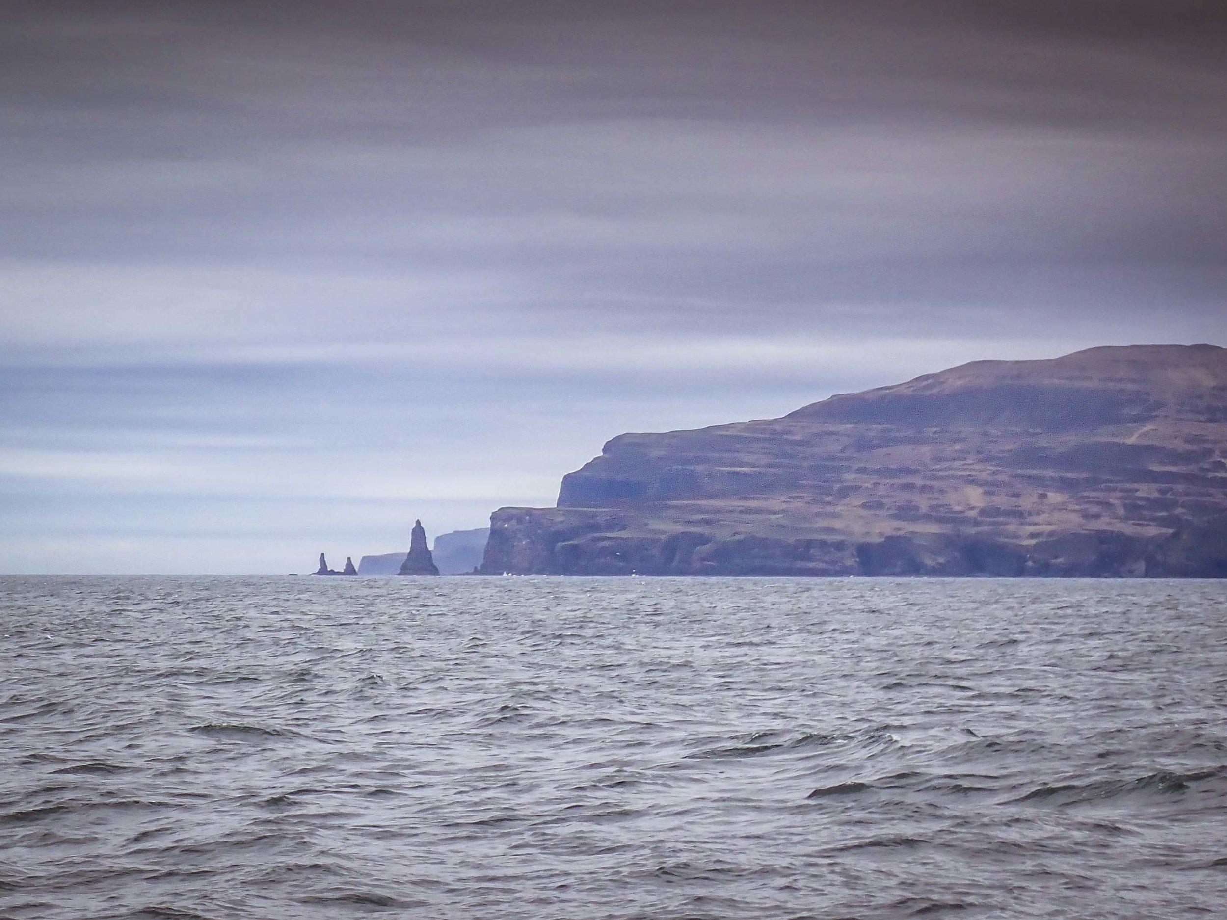 Mcloud's Maiden's to starboard leaving Loch Harport