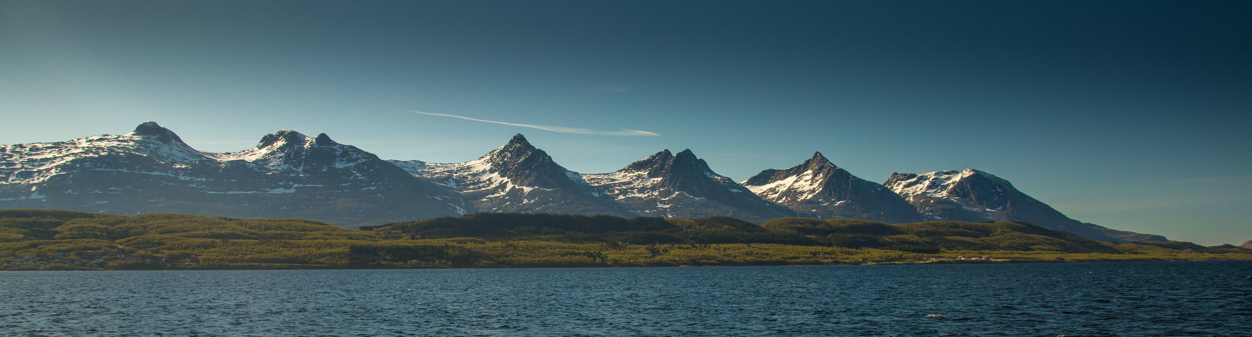 Past mountains steeped in Norse legend like these Seven (Troll) Sisters.