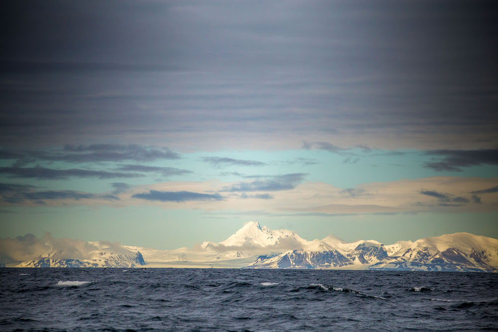 Our first view of Svalbard