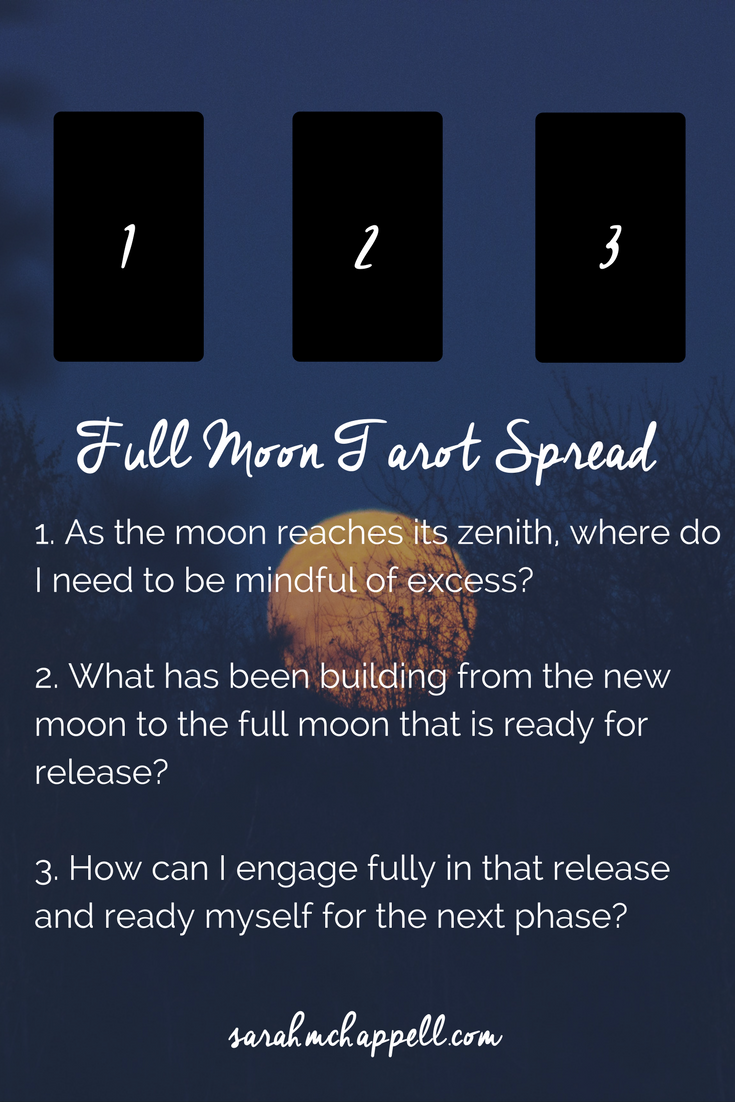 Simple Tarot Spread for the Full Moon in Scorpio — Sarah M  Chappell