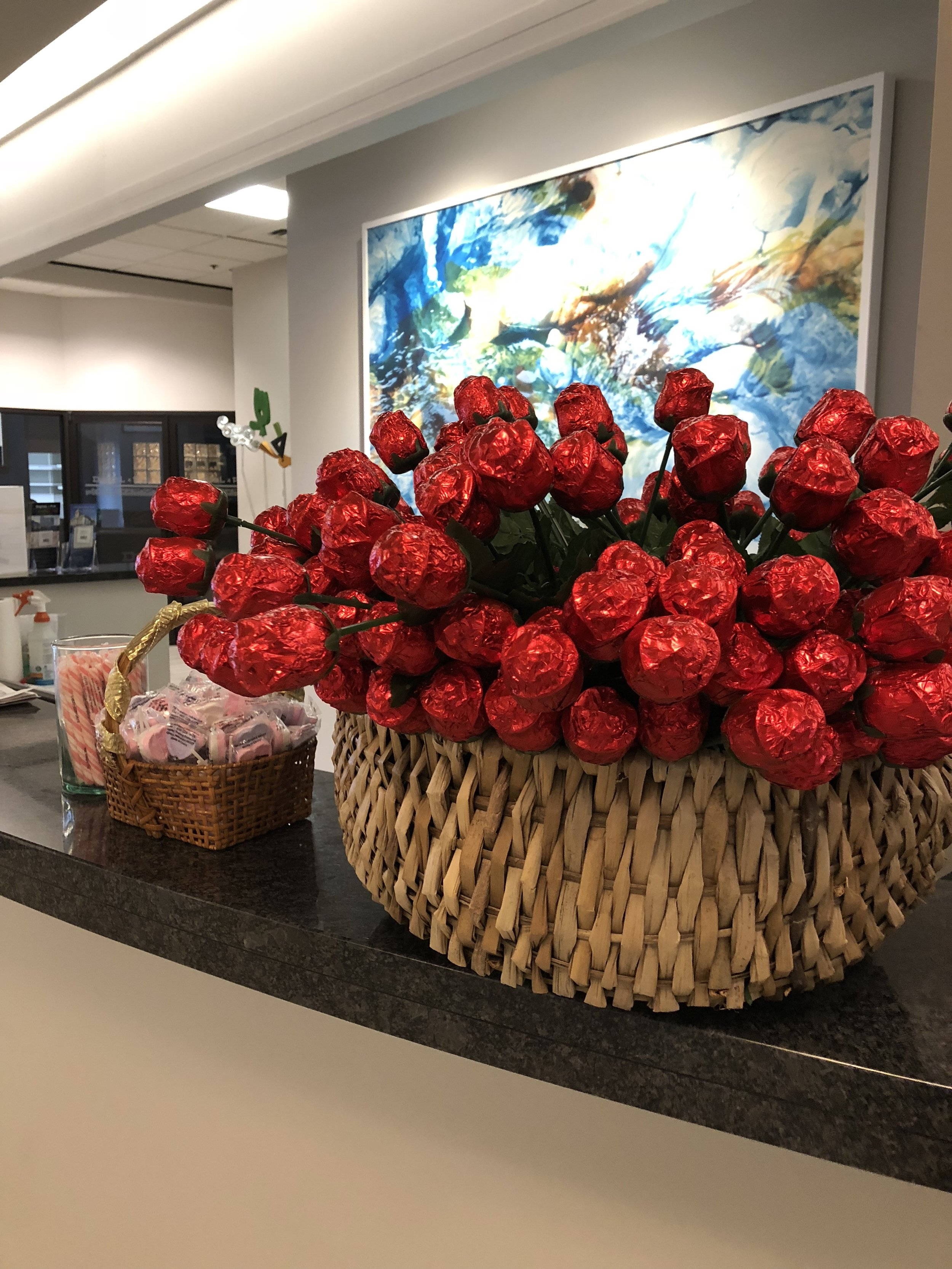 Roses and sweets