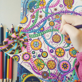 Day 74: Today I'm grateful for adult colouring books.