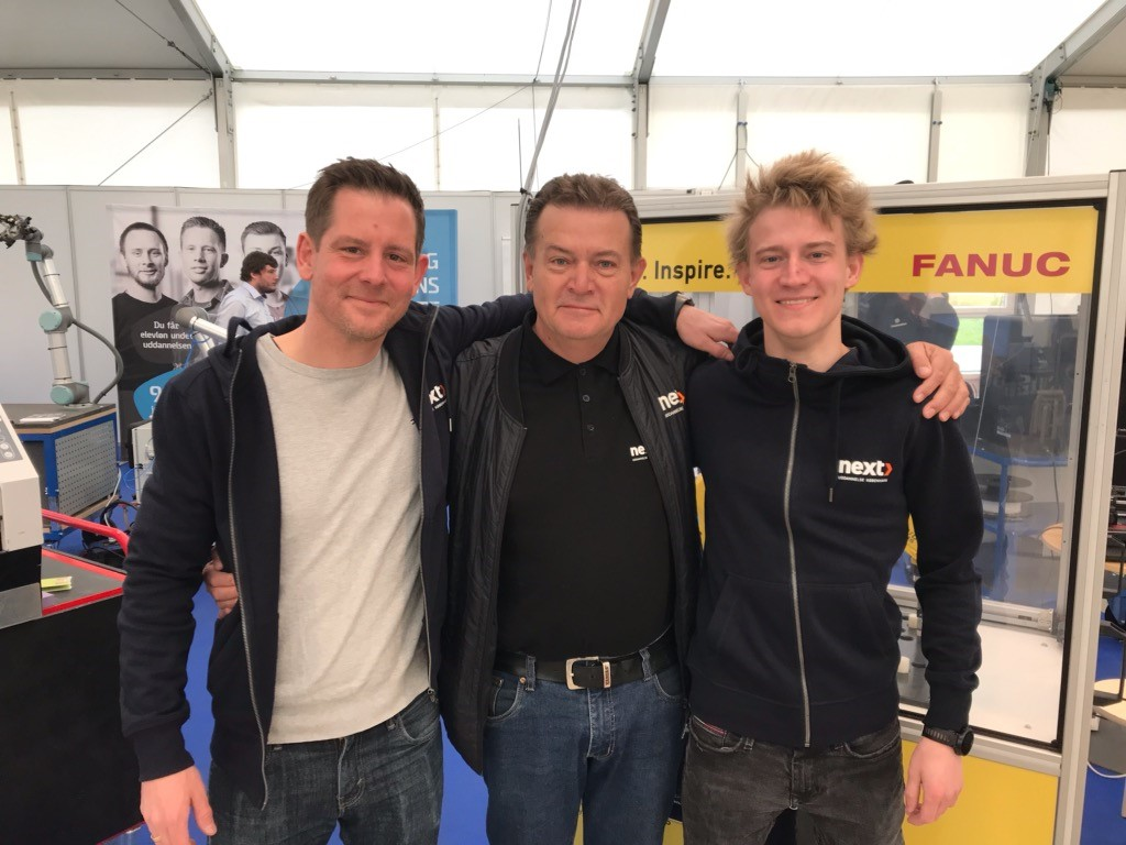 Faglærer Lars Emil Roos, Virksomhedskonsulent Lars Ole Frederiksen og Rasmus Frølund