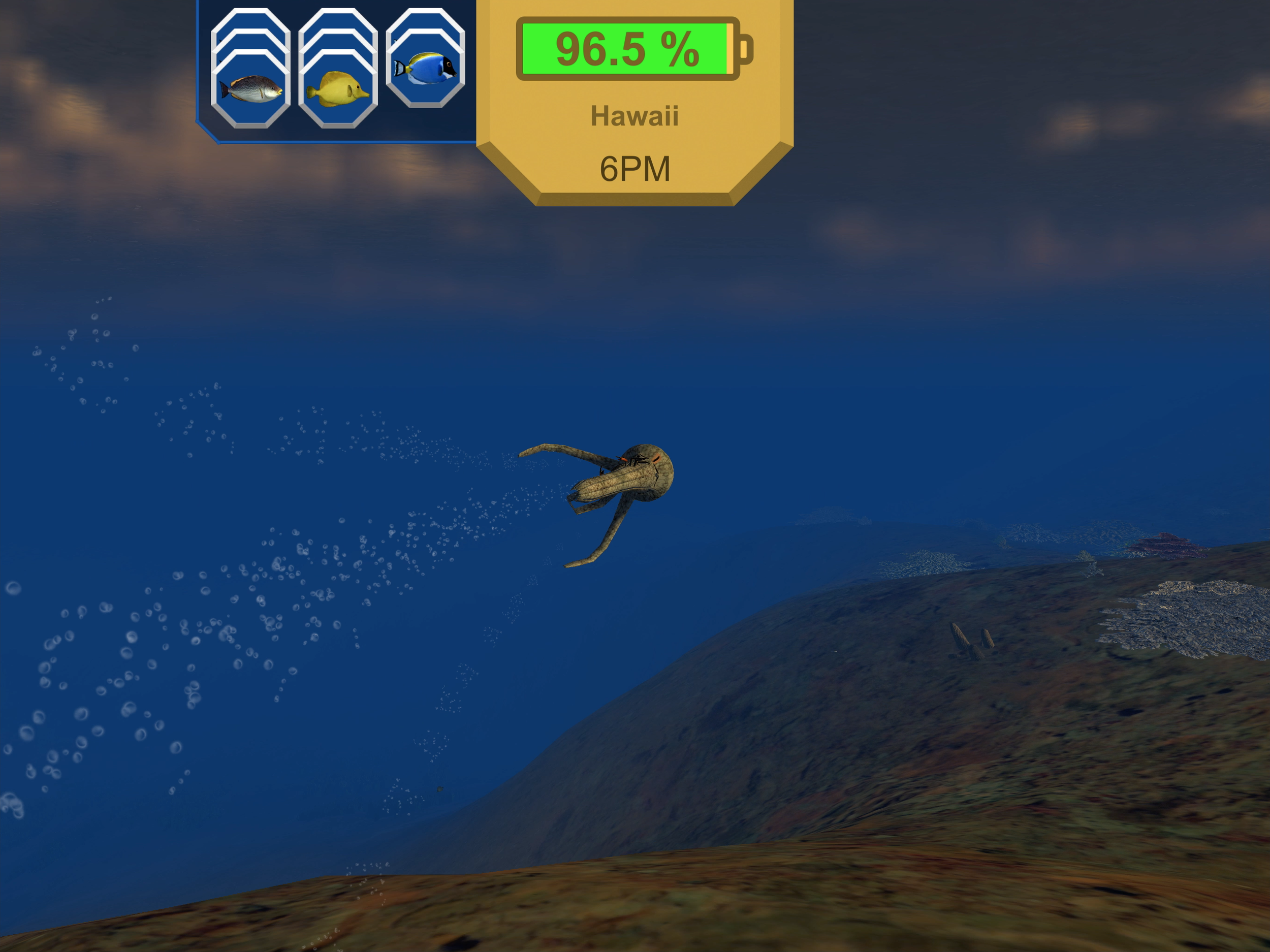 Robocto - Location: Hawaii (eating on the fly) - iPad
