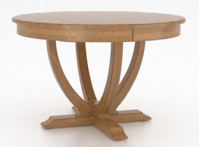 Round table, pedestal base