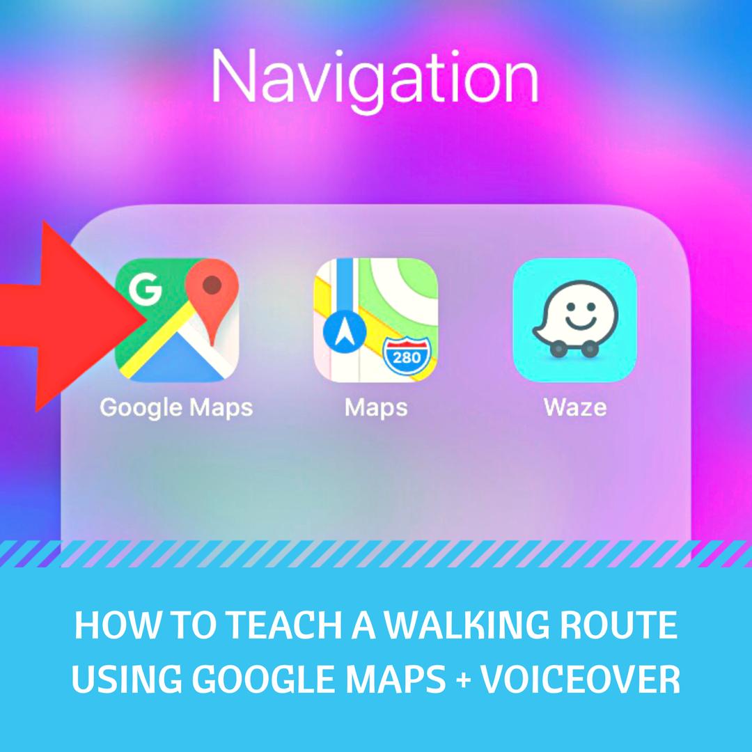 Google maps application image