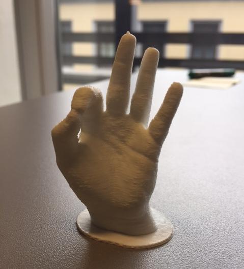 Prototypen som ble printet på kurset.