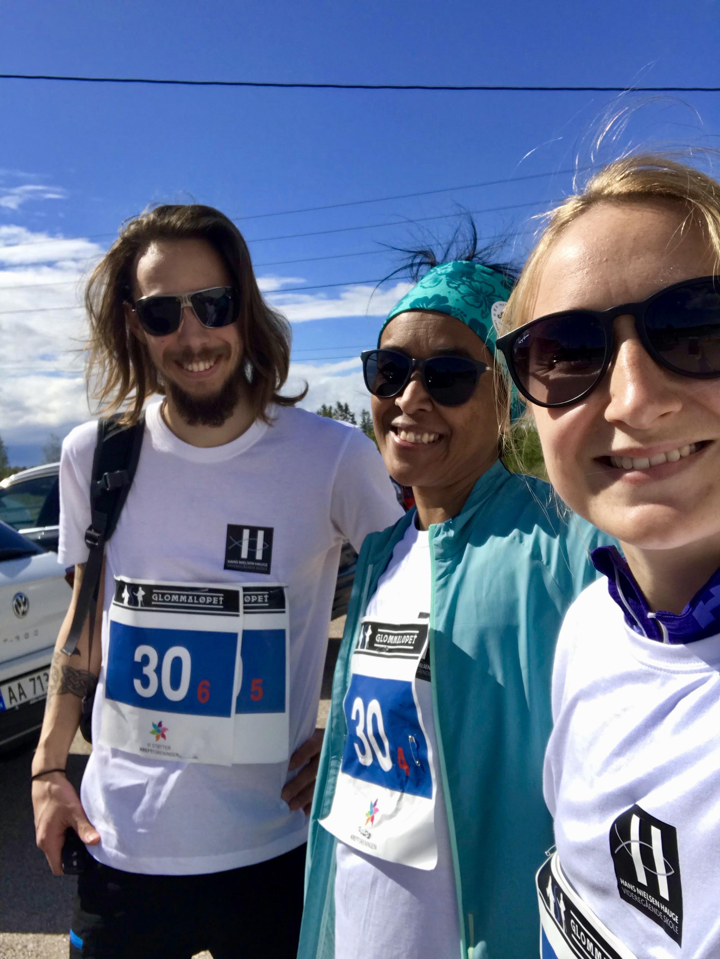 Mats Kobbevik Westgaard, Liv Vågen og Elise Berggren koste seg i sola!