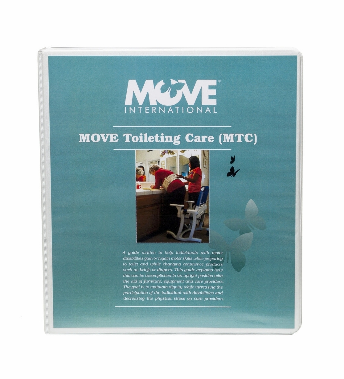 MOVE Toileting Care (MTC)    $50.00   MTC (MOVE Toileting Care) is a program that teaches upright toileting in the home, residential facility, care facility or public restrooms. It is a process that gives dignity to a daily routine regardless of age or disability.  Upright toileting can be done with the use of household furniture, bathroom vanity, grab bars or the RIfton Support Station.  This manual is written for residential/care facilities.