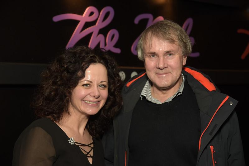Geraldine Hughes and Robert Holman