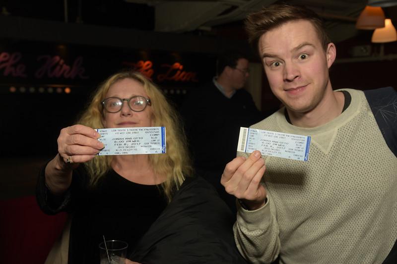 Carol Kane proudly displays her ticket