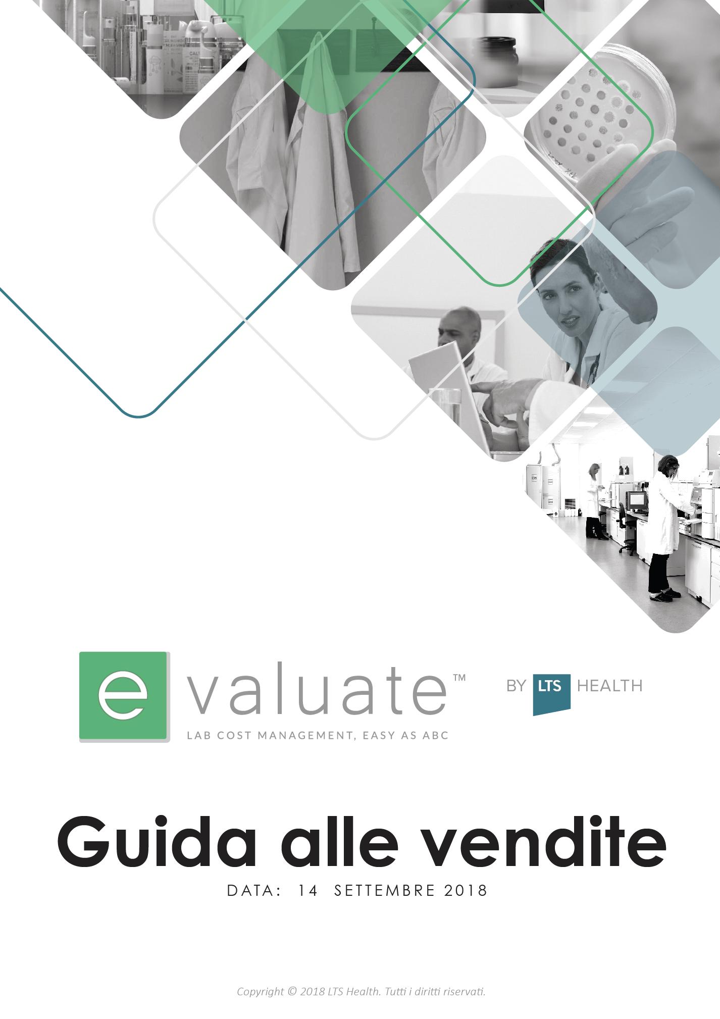 e-Valuate™ Guida Alle Vendite