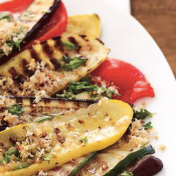 Grilled Vegetables with Italian Bread Crumbs!