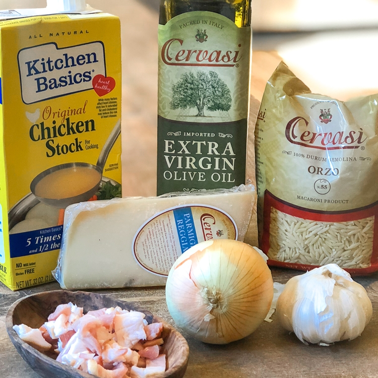Cervasi Ingredients for Orzo Risotto
