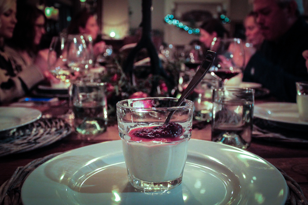 Panna cotta that can be made ahead and topped with berries