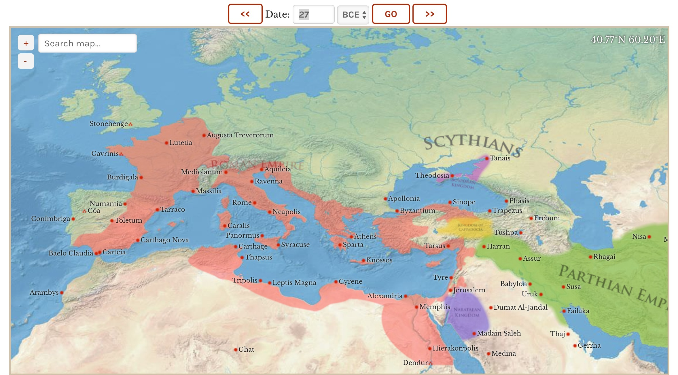 The Map of the Ancient World  (where you can time travel)