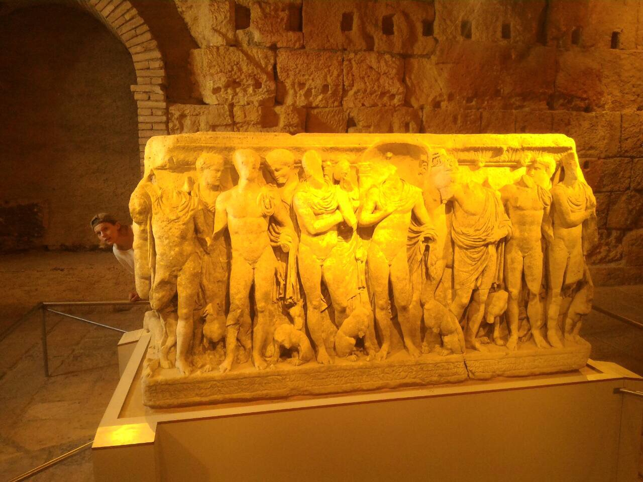 Sarcophagus preserved in the circus and forum museum.