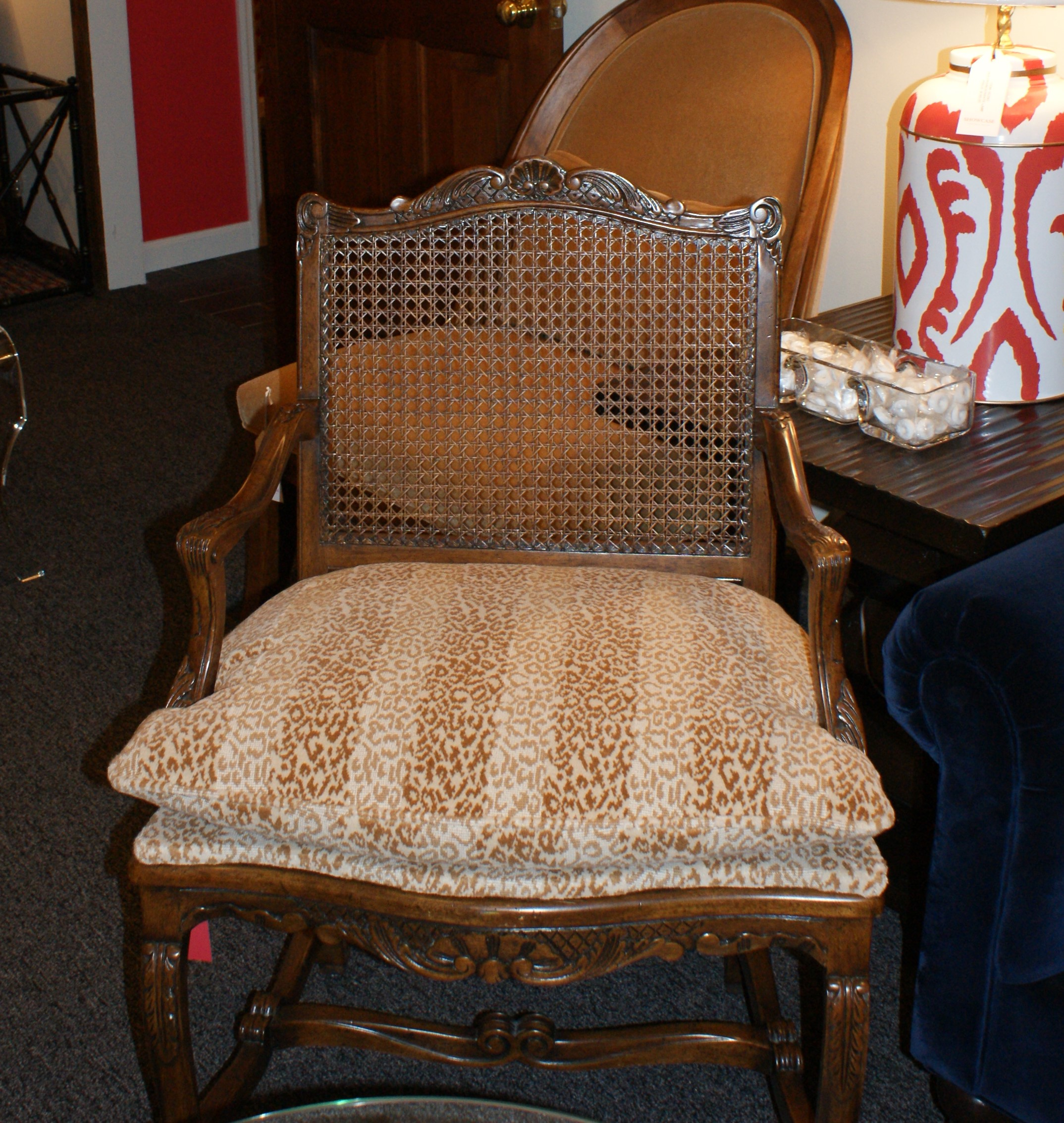 William Switzer Chair with Scalamandre   Leopard Print Fabric (Pair)