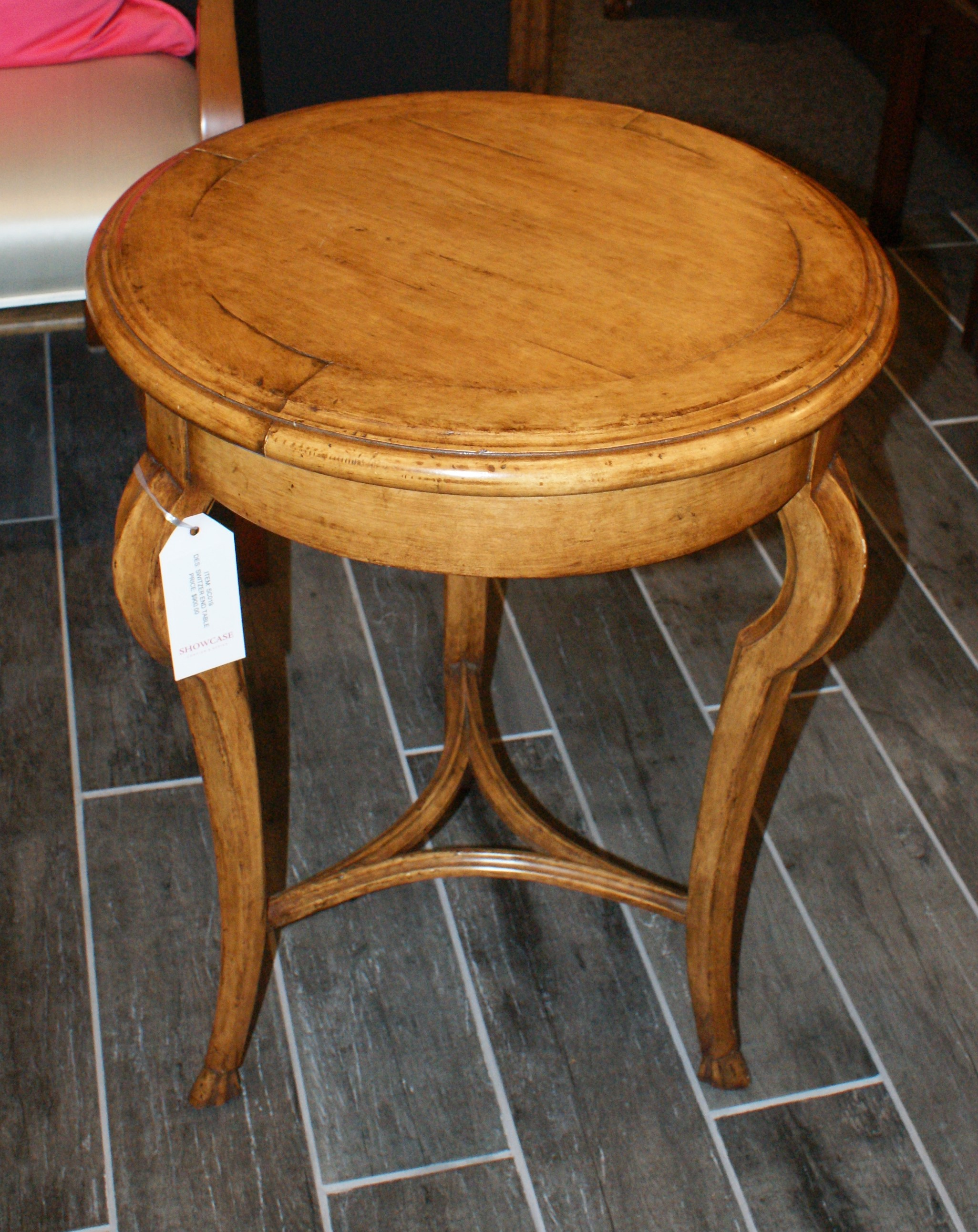 William Switzer Wood   Round End Table
