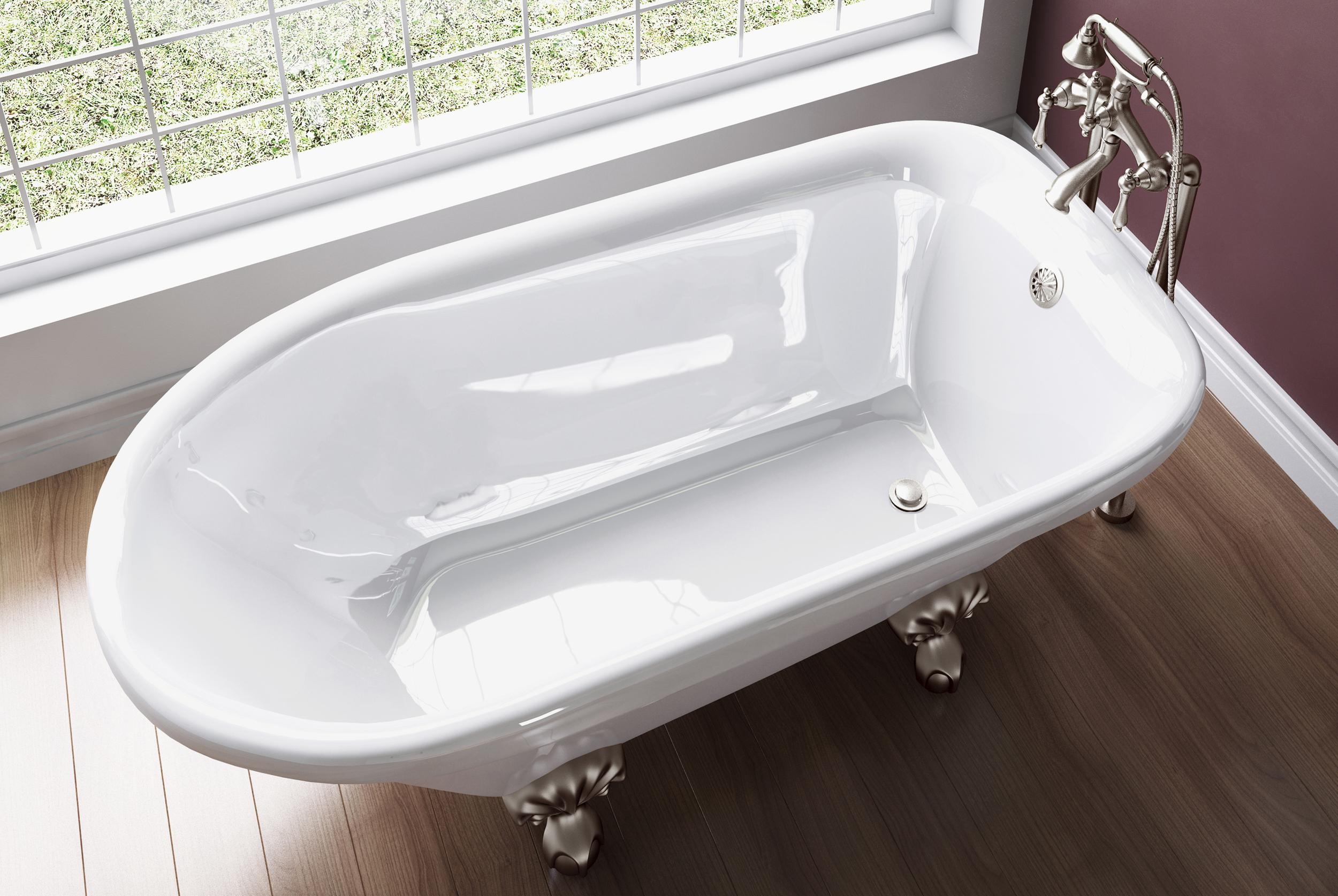 Pelham and White Clawfoot Tub EnduraClean
