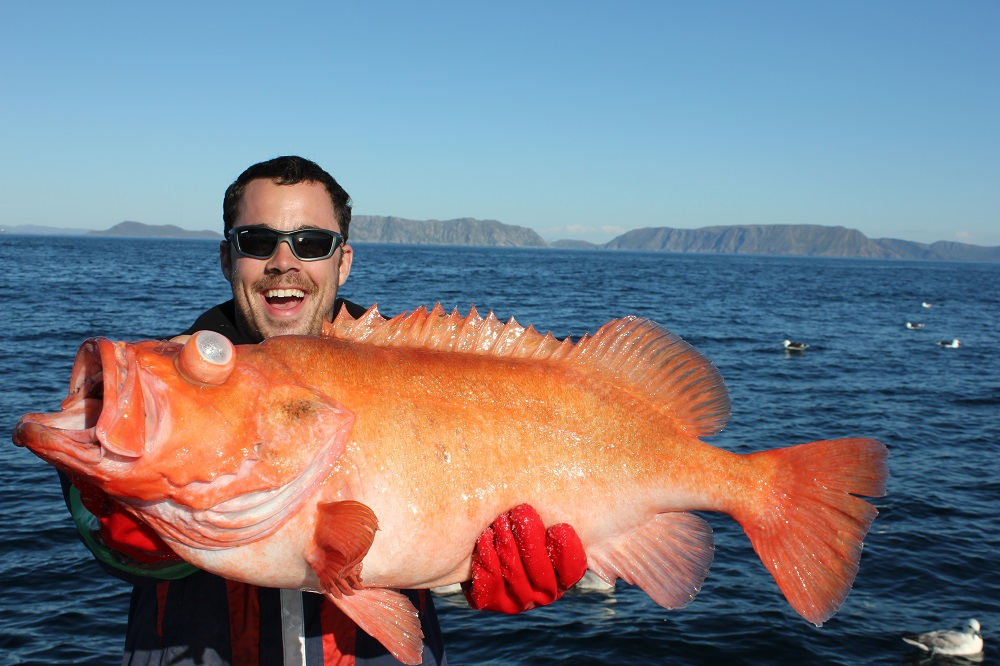 Cyrill with redfish on 7,5kg og 80cm