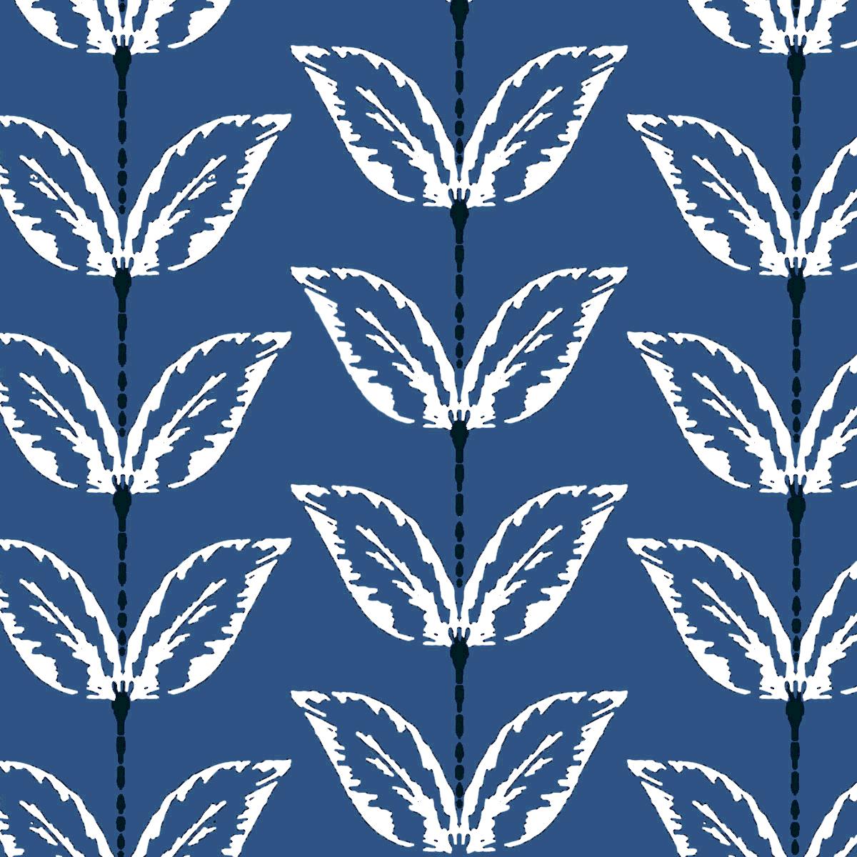 Palm Stripe Blueberry